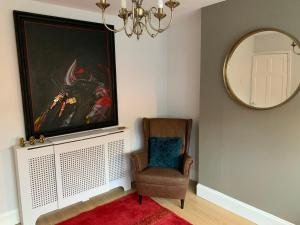 A television and/or entertainment center at BEAUTIFUL SEMI DETACHED WITH PRETTY GARDEN