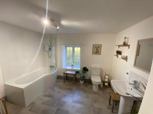 A bathroom at The Village Inn