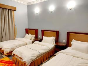 Cama ou camas em um quarto em Hilion Hotel Apartments