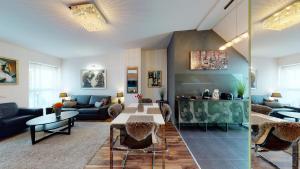 Posezení v ubytování Central Home Budapest