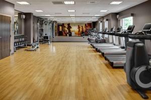 The fitness center and/or fitness facilities at Hyatt House Atlanta Cobb Galleria