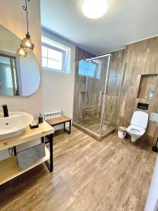 Ванная комната в Berloga apartment