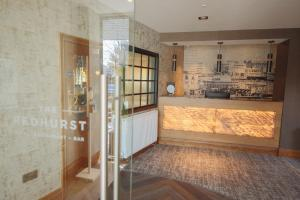 The lobby or reception area at The Redhurst Hotel Glasgow