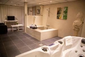 Een badkamer bij Amicitia Hotel Sneek
