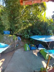 The swimming pool at or close to Camping Família Viva Trindade casa da Tais