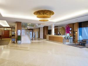 The lobby or reception area at Hotel International