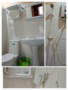 A bathroom at Allba's Homestay