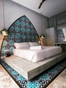 Ein Bett oder Betten in einem Zimmer der Unterkunft Layla Tulum