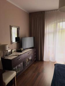 Telewizja i/lub zestaw kina domowego w obiekcie Apartament Regina Maris