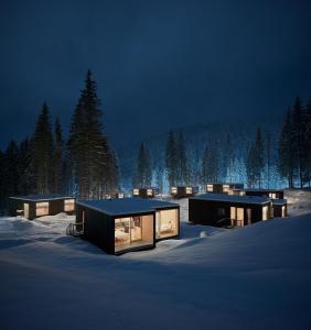 Hotel Björnson Jasná & Björnson TREE HOUSES v zime
