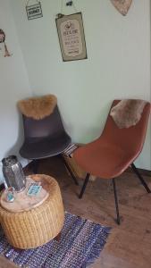 A seating area at B&B DE Boshut