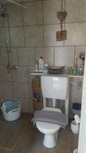 A bathroom at B&B DE Boshut