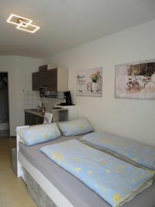 Ein Bett oder Betten in einem Zimmer der Unterkunft Ferienwohnung Trier Zentrum, Studio, Apartment, ruhig gelegen