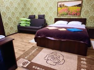 Кровать или кровати в номере PiramidA