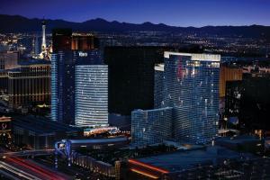 A bird's-eye view of Vdara Hotel & Spa at ARIA Las Vegas
