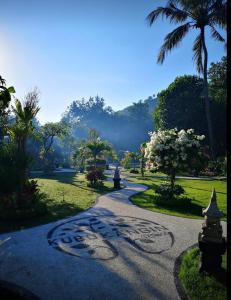 A garden outside Kubu Kangin Resort