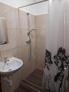 Kúpeľňa v ubytovaní Chata Zahradky