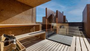 Uma varanda ou terraço em Vitoria Stone Hotel