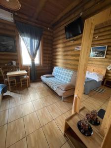 Гостиная зона в Арт-Эко-Отель Алтай