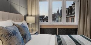 Cama o camas de una habitación en Boutique Hotel Wellenberg