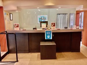 The lobby or reception area at Hotel Hamilton Sapporo