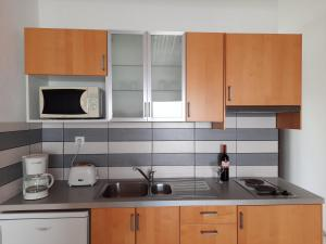 A kitchen or kitchenette at Hadoula Studios
