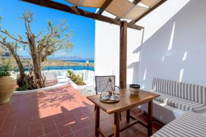 A balcony or terrace at Maris Lindos Suites & Apartments