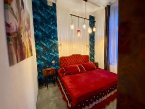 Łóżko lub łóżka w pokoju w obiekcie Sopot Spa Apartment