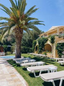 A garden outside Valentino Corfu