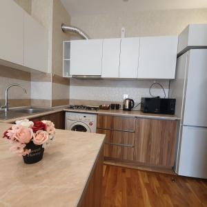 A cozinha ou cozinha compacta de Kristal Absheron
