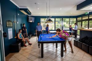 A pool table at Cairns Adventure Lodge - includes All Meals served in the Dining Hall