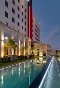 The swimming pool at or close to Protea Hotel Fire & Ice! by Marriott Pretoria Menlyn