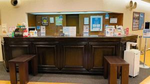The lobby or reception area at Hotel Route-Inn Shinagawa-Oimachi