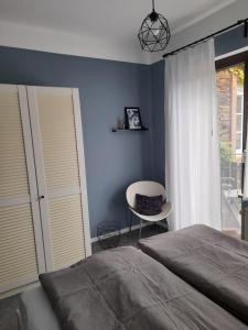 Een bed of bedden in een kamer bij Ferienhaus Schwaab-Scherr