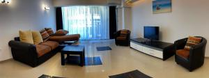 O zonă de relaxare la Maria Residence Serviced Apartments Mamaia
