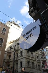 Logotypen eller skylten för hotellet