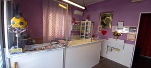 A kitchen or kitchenette at Hotel Violetta