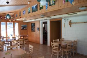 A restaurant or other place to eat at Valley Hostel
