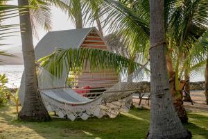 A garden outside Isla Chiquita Glamping Hotel