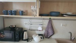 Кухня или мини-кухня в Apartment on Sibgata Khakima