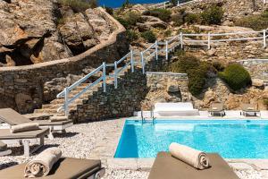 Piscine de l'établissement Villa Thelgo Mykonos ou située à proximité