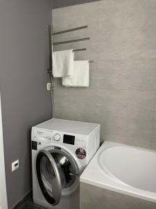 A bathroom at Match Point апартаменты