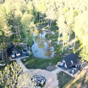 Vaade majutusasutusele Nordicstay Noarootsi Saunahouse linnulennult