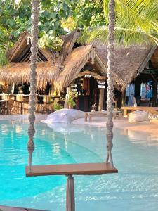 The swimming pool at or close to La Cabane