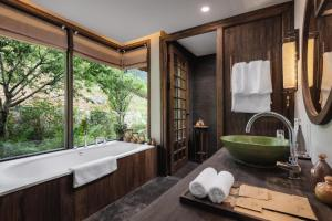 Salle de bains dans l'établissement Avana Retreat