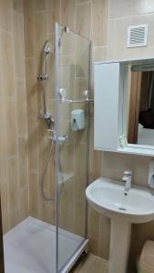 A bathroom at Aquapark Koblevo Hotel