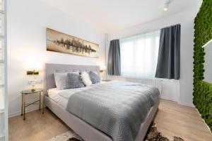 Postel nebo postele na pokoji v ubytování Apartmán Ostrava