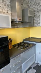 A kitchen or kitchenette at Двухкомнатная квартира в центре Москвы