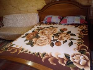 Кровать или кровати в номере Avrora