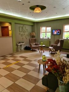 Zona de hol sau recepție la Hotel Olimp
